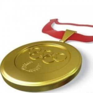 A golden olympic medal