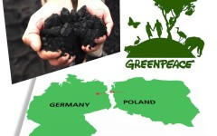 Lanț uman împotriva cărbunelui, la granița dintre Germania și Polonia