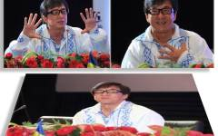Jackie Chan a venit în România să-și lanseze un film și s-a îmbrăcat într-o ie românească