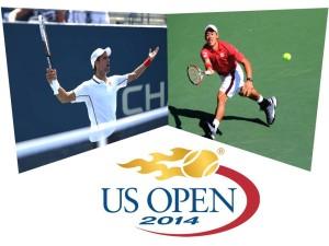 Kei Nishikori - novak djokovic - us open 2014
