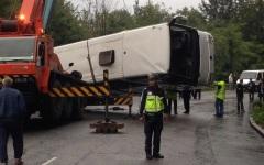 Un autocar plin cu români s-a răsturnat într-o râpă în Bulgaria