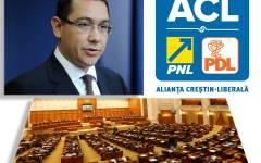 PNL și PDL au depus o moțiune de cenzură la adresa Guvernului Ponta