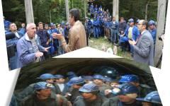 Minerii de la Mina Băița, au încetat protestul declanșat de demisia directorului general