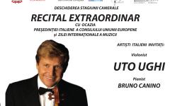 Celebrul violonist italian Uto UGHI, în concert la Ateneul Român
