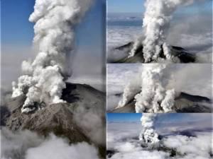vulcanul Ontake - eruptie