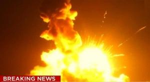 racheta nasa explodata