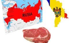 Rusia interzice importul de carne din Republica Moldova