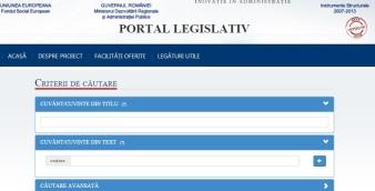 portal legislativ