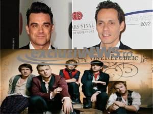 Robbie Williams, Marc Anthony si OneRepublic