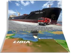 petrolier bombardat in portul derna