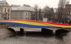 Pod tricolor peste Dâmbovița la aniversarea a 156 de ani a Micii Uniri