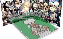 Musulmanii protestează împotriva caricaturilor Charlie Hebdo cu profetul Mahomed