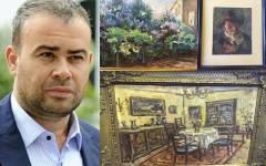 Procurorii DNA au găsit 100 de tablouri aparținând lui Darius Vâlcov, ascunse în pereți falși