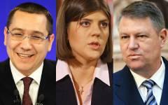 SONDAJ: Iohannis 75% încredere, Ponta 40%, iar Kovesi 51%