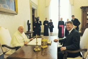 papa francisc - klaus iohannis