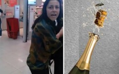 S-a ales cu dosar penal pentru că a furat o sticlă de șampanie din supermarket