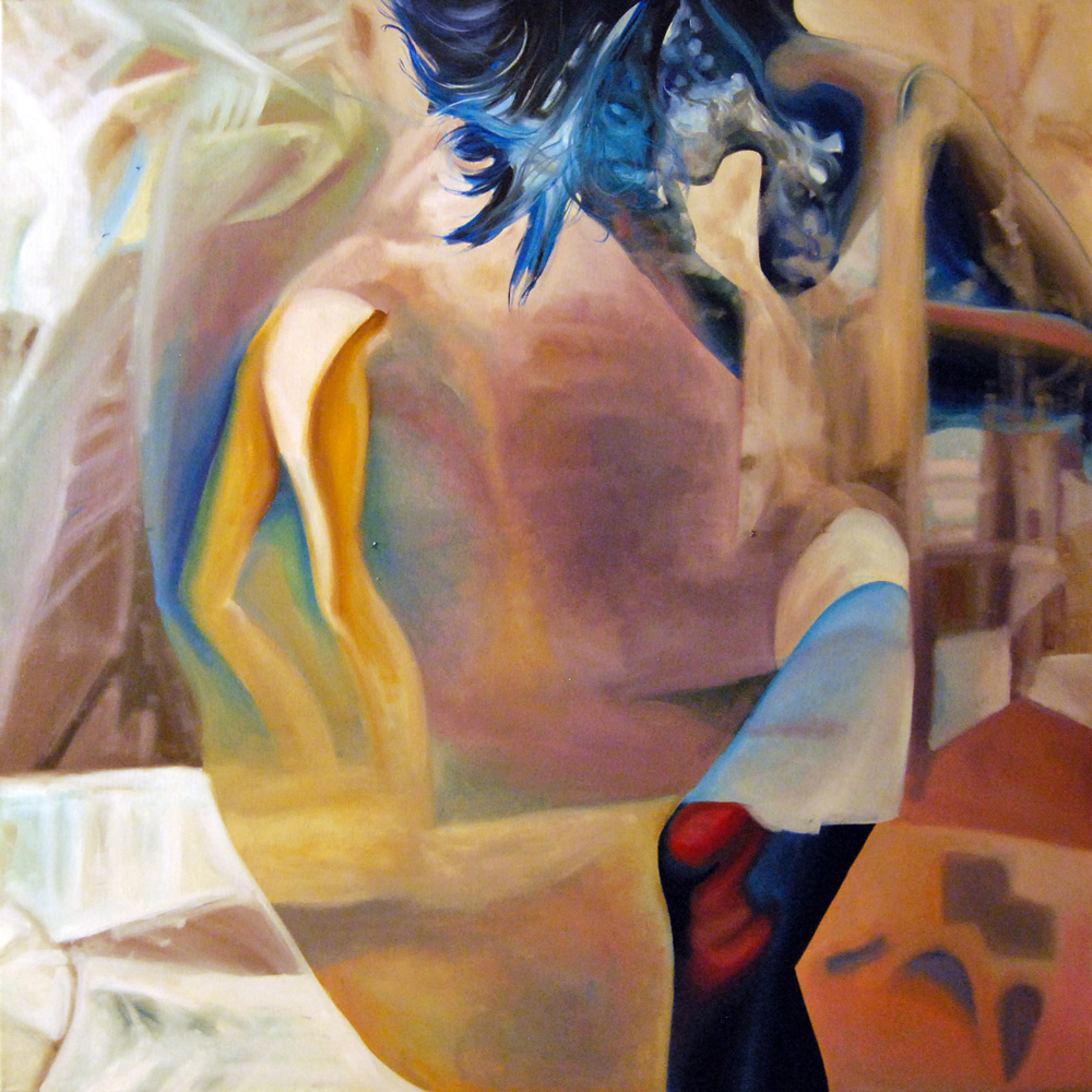 Soul-searching,-2015,-100-100cm,-oil-on-canvas