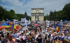 30.000 de moldoveni au votat la Chișinău, Unirea Moldovei cu România