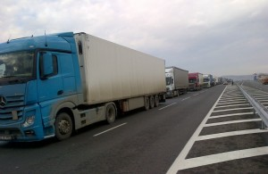 camioane blocate in vama