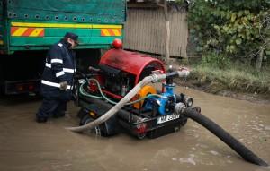 Motopompa transportabila - inundatii