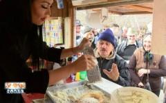 Se strigă darul la Kanal D. Andreea Mantea vinde langosi în rulotă