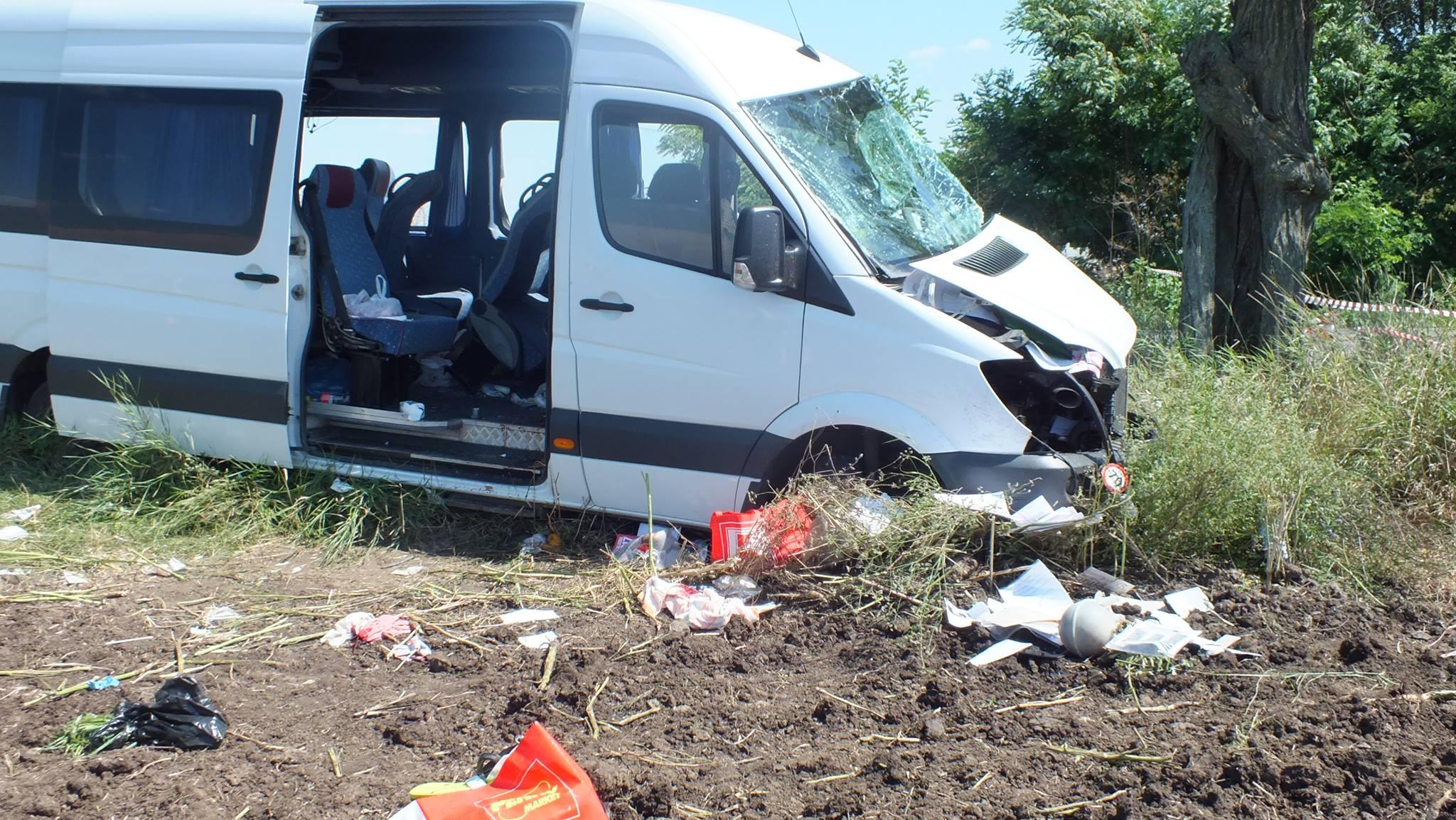 microbuz accident rutier alexandria