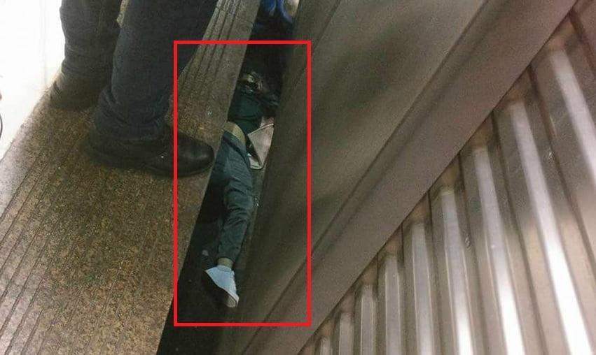 tanara cazuta la metrou