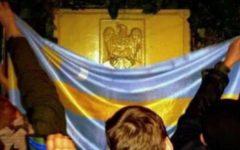 MAE reacţionează după ce un grup de unguri au vandalizat Ambasada României la Budapesta